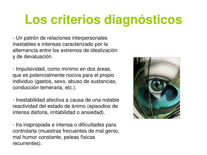 Los criterios diagn sticos