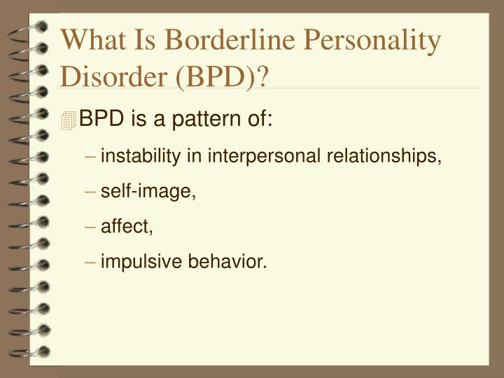 What is borderline personality disorder bpd