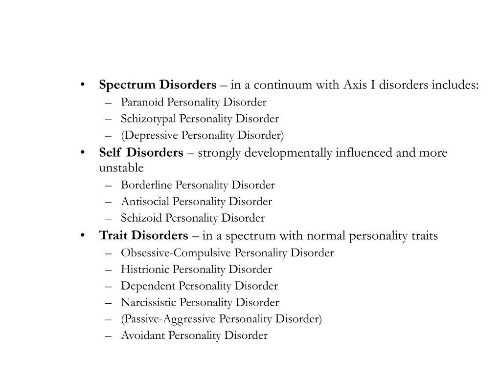 Spectrum Disorders