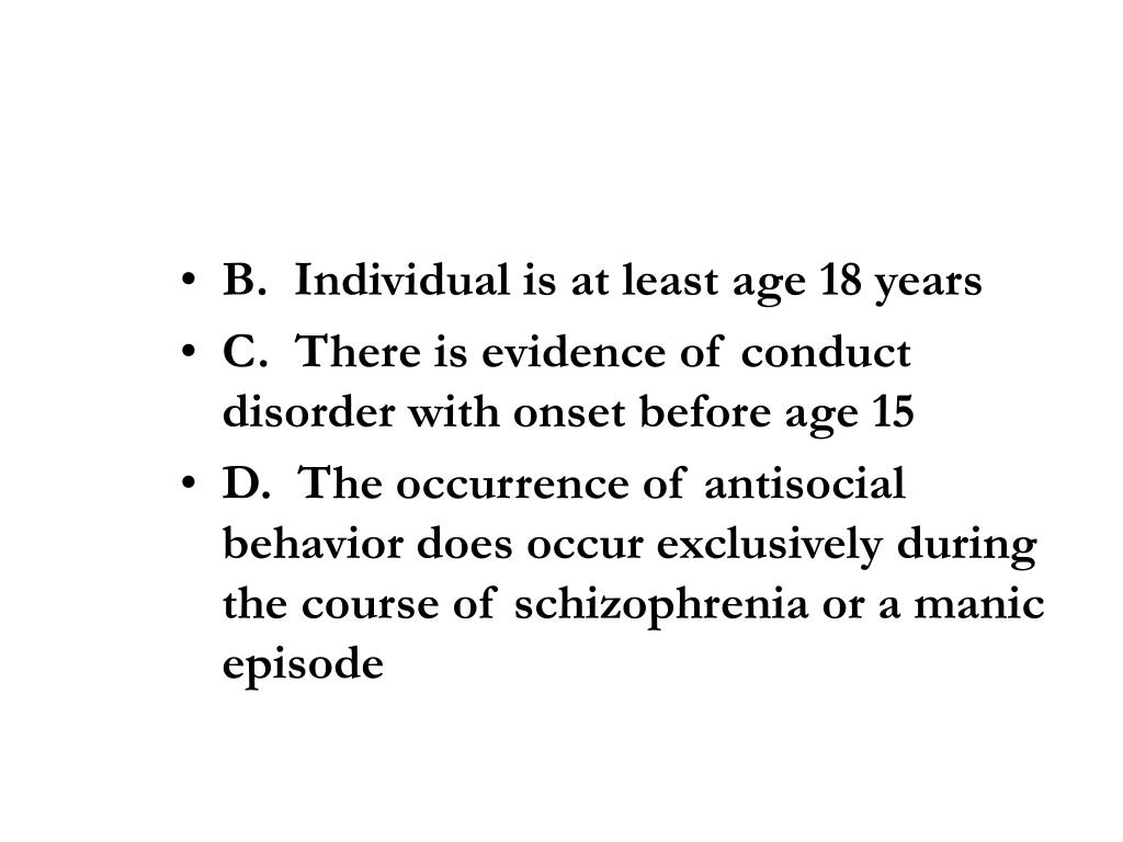 B.  Individual is at least age 18 years