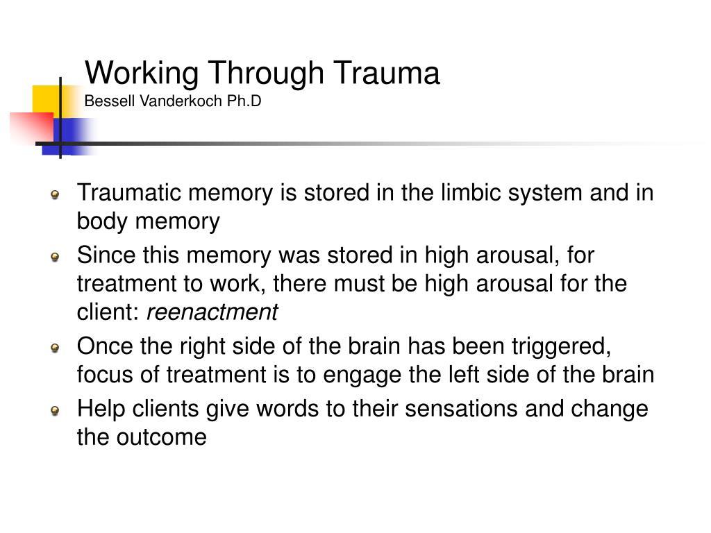 Working Through Trauma