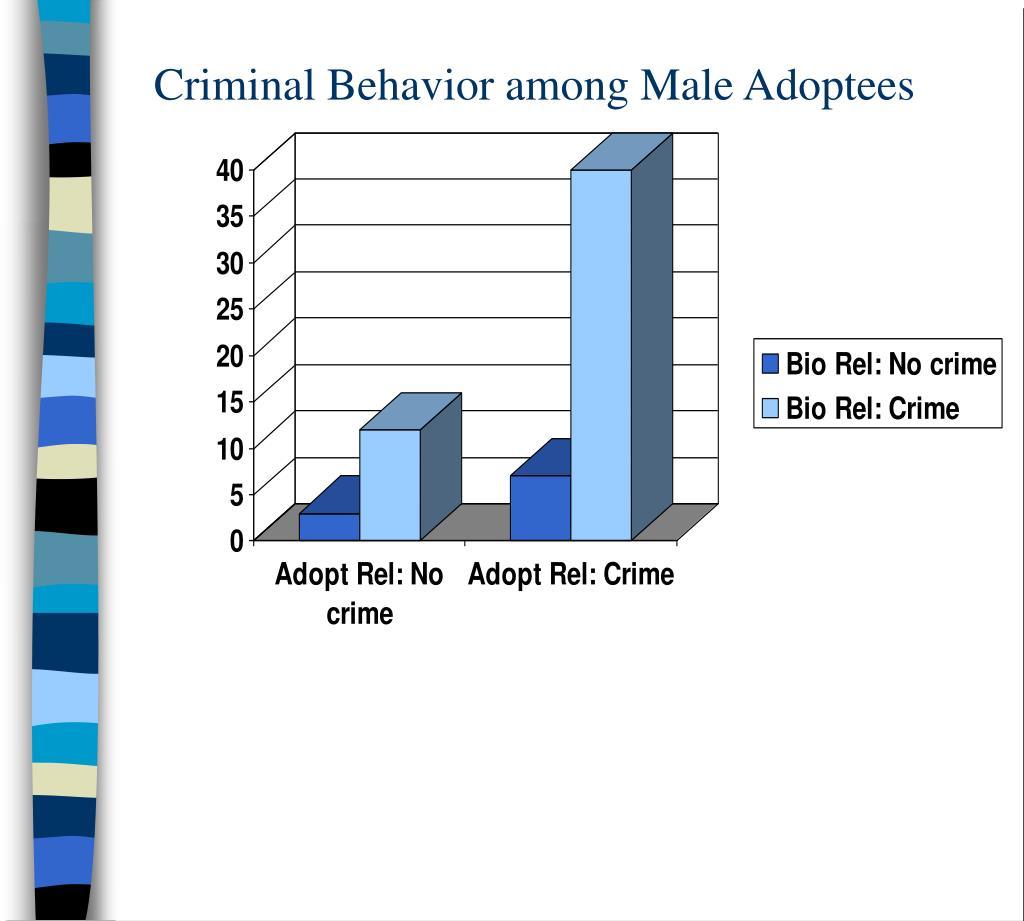 Criminal Behavior among Male Adoptees