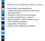 dsm criteria for borderline pd 5 or more