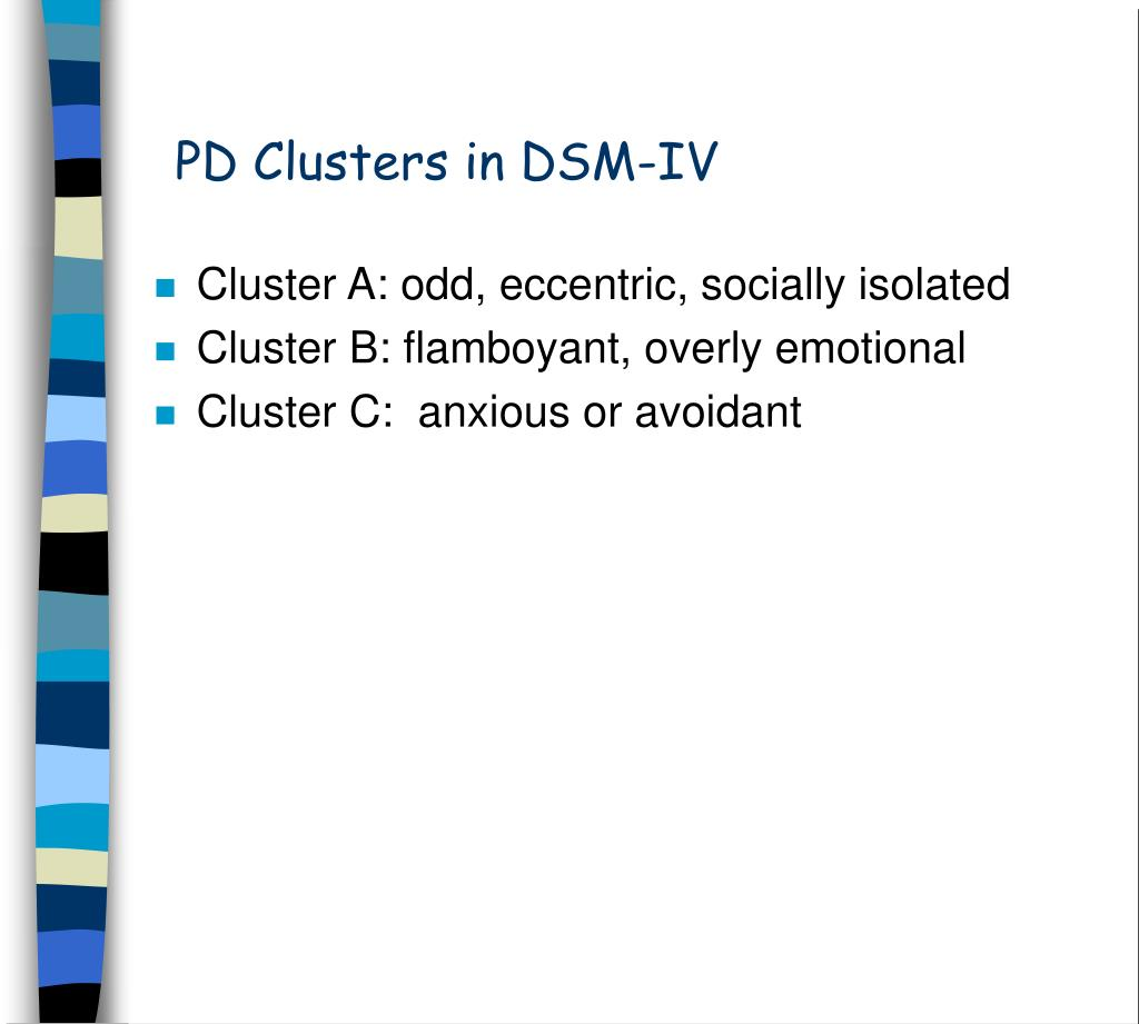 PD Clusters in DSM-IV