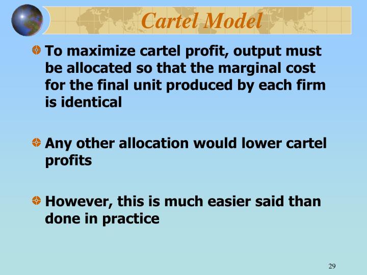 Cartel Model