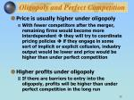 oligopoly and perfect competition1
