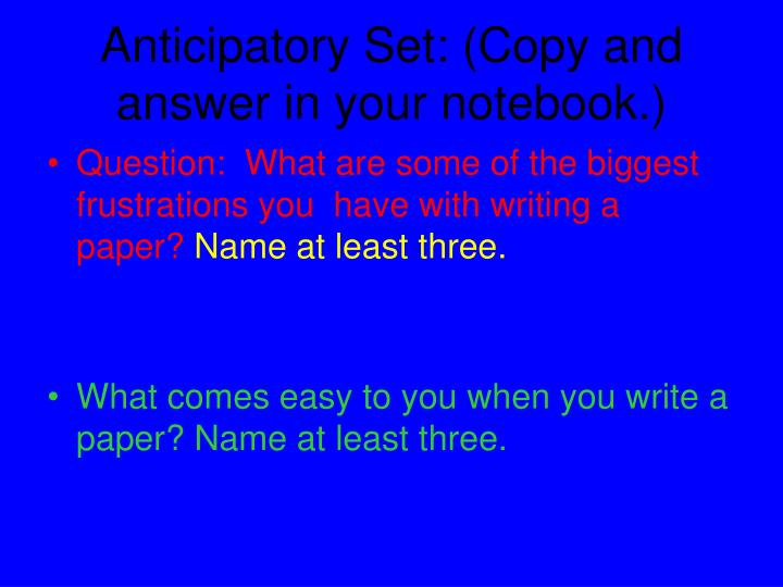 bing bang bongo five paragraph essay powerpoint