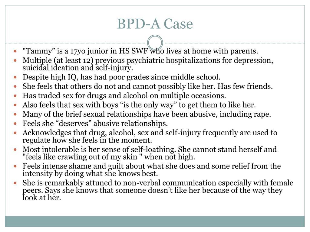 BPD-A Case