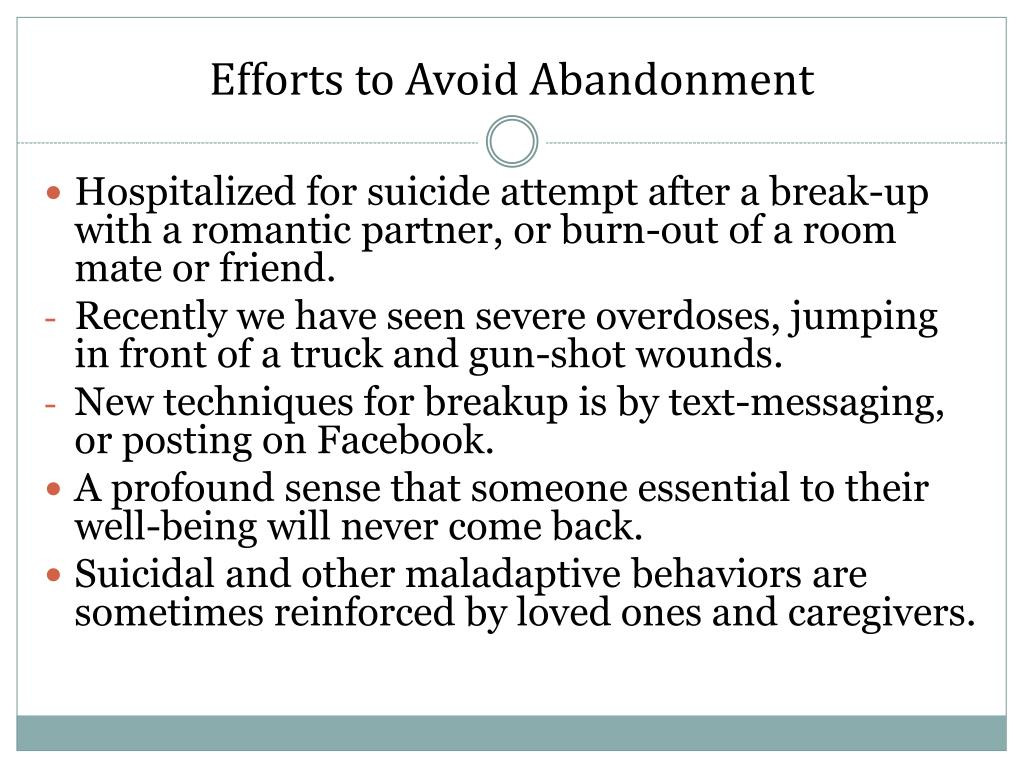 Efforts to Avoid Abandonment