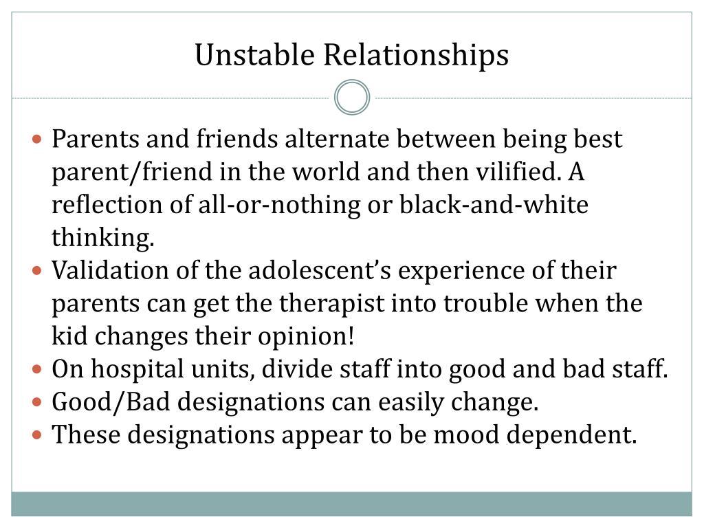 Unstable Relationships