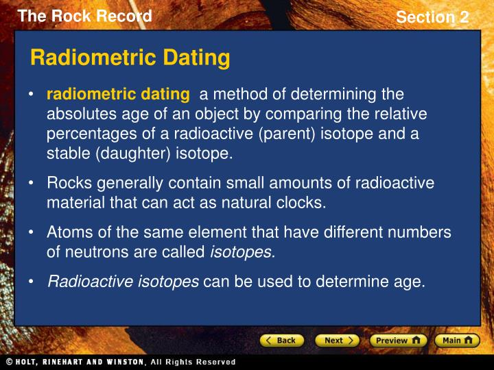how are absolute dating and relative dating different Scientists use radioactive isotopes to determine the absolute age of a new fossil relative dating is used to arrange geological events, and the rocks they leave behind, in a sequence the method of reading the order is called stratigraphy (layers describe how different kinds of fossils form.