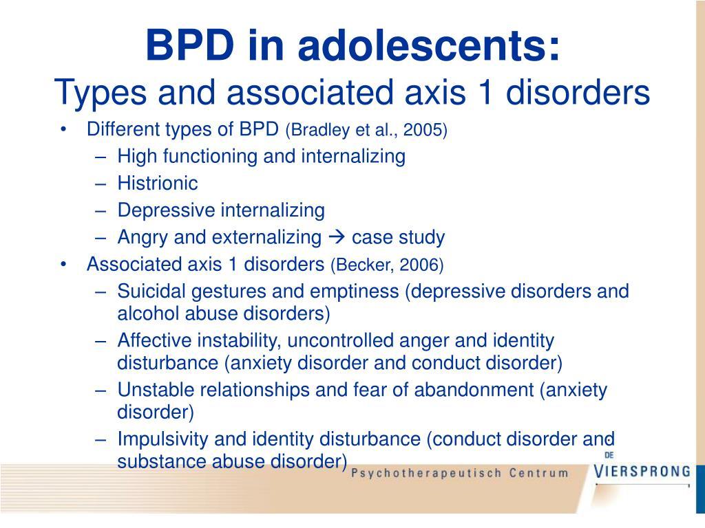 BPD in adolescents: