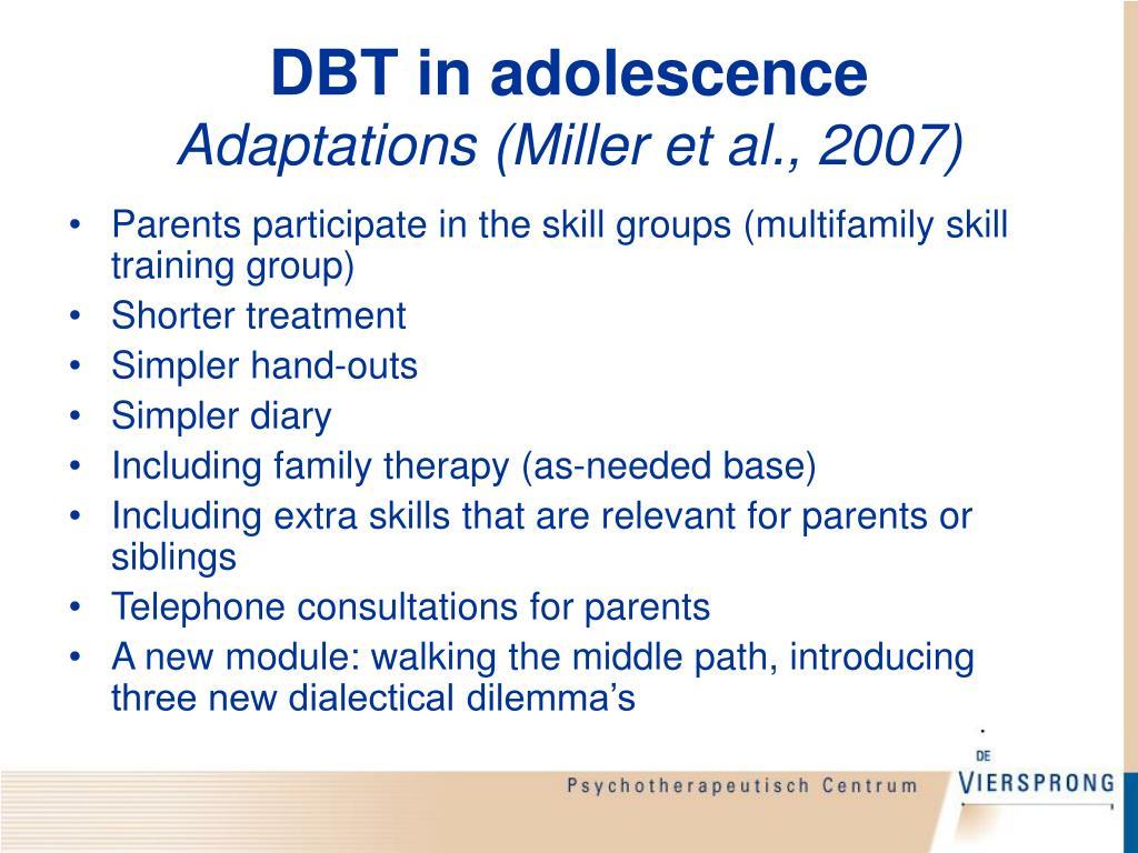 DBT in adolescence