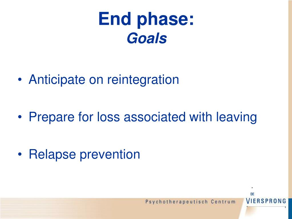 End phase: