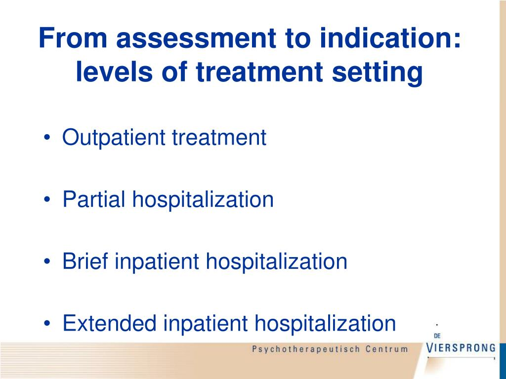 From assessment to indication: