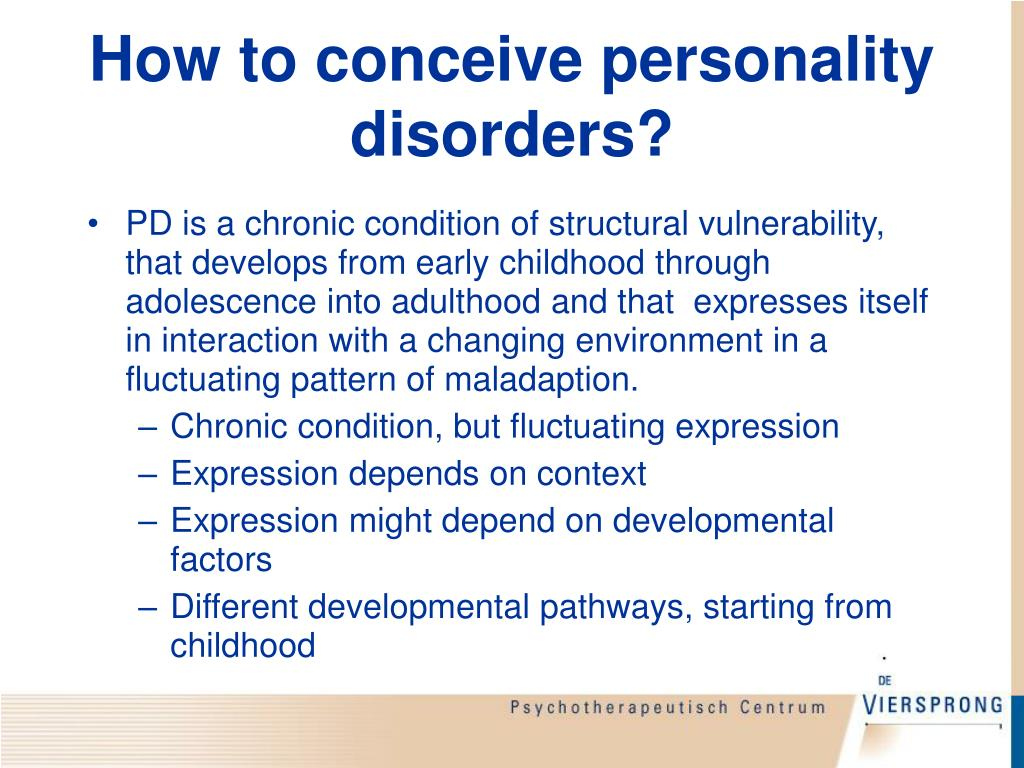 How to conceive personality disorders?