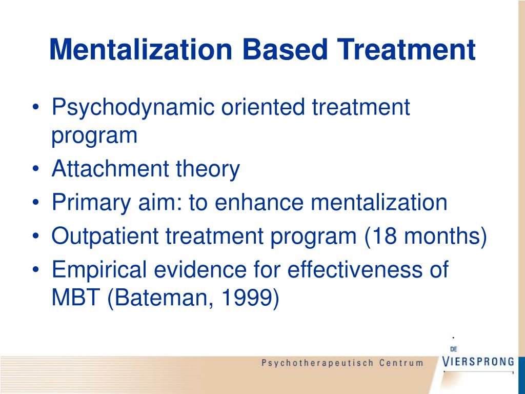 Mentalization Based Treatment