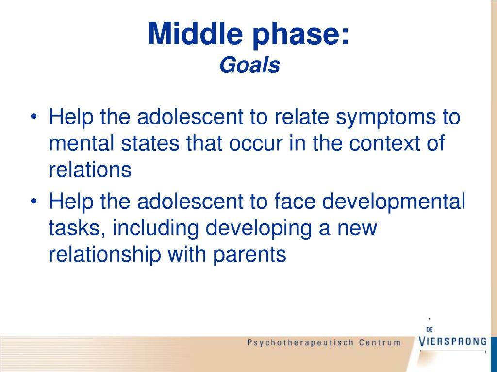 Middle phase: