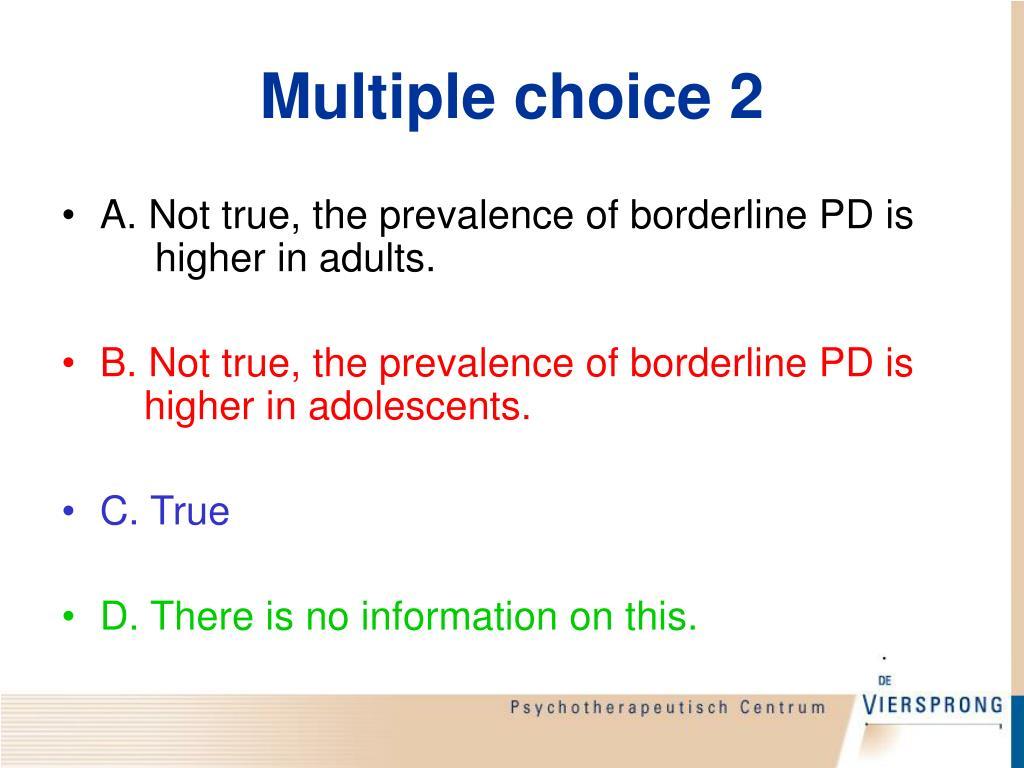 Multiple choice 2