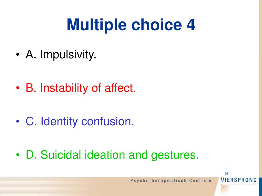 Multiple choice 4