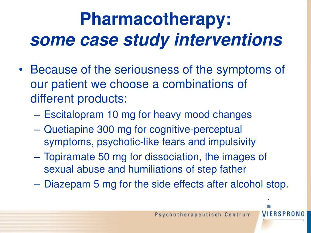 Pharmacotherapy: