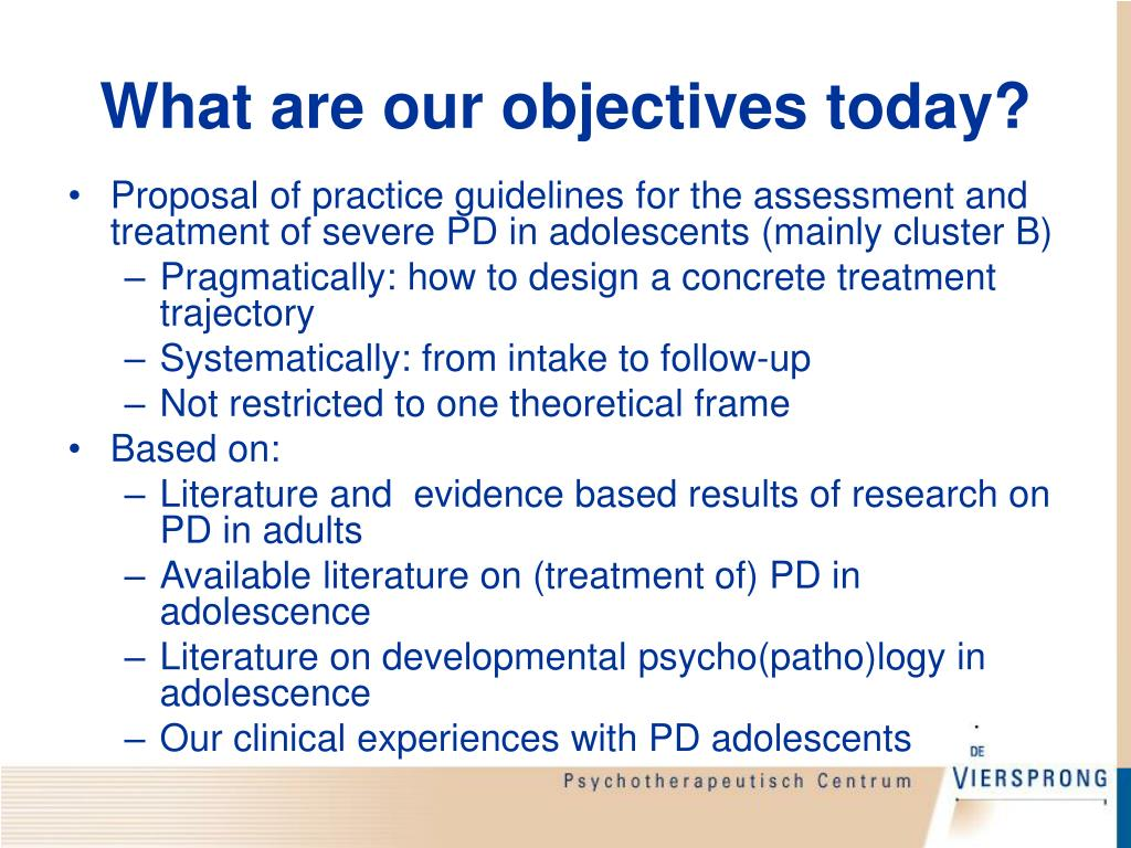 What are our objectives today?