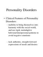 personality disorders7