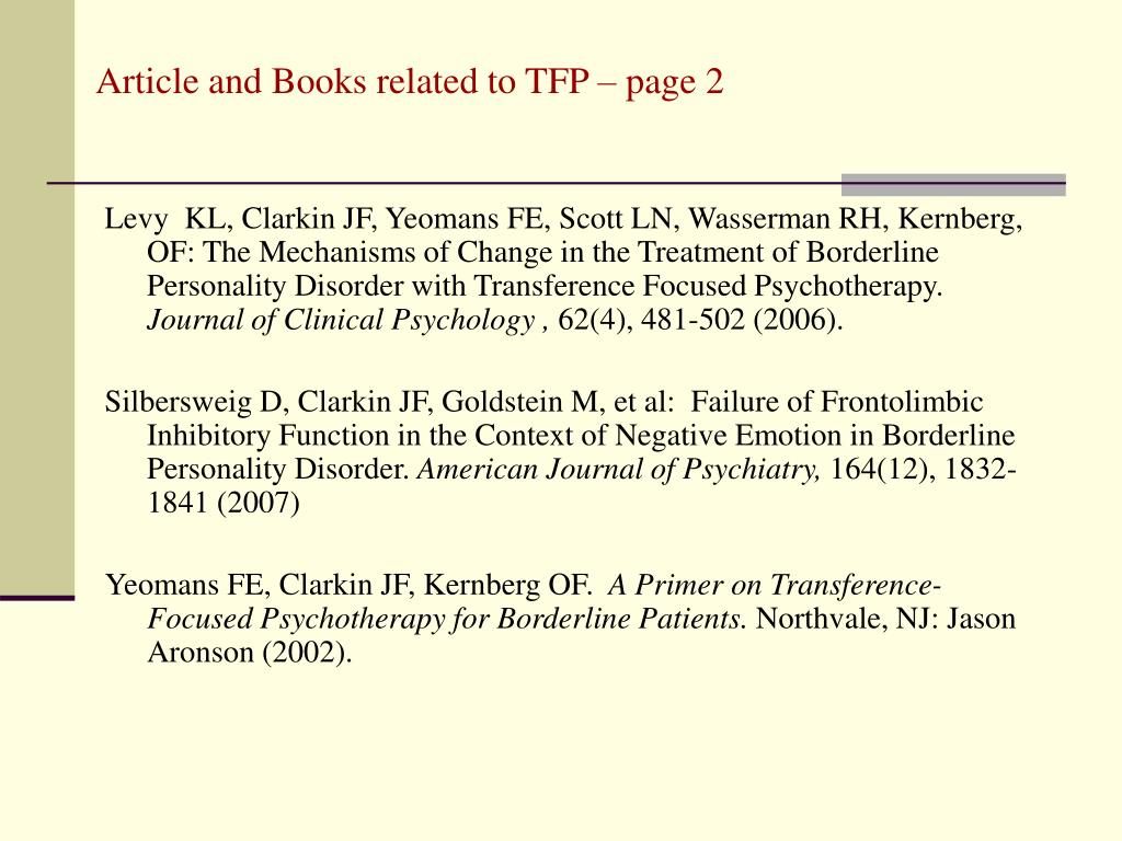 Article and Books related to TFP – page 2