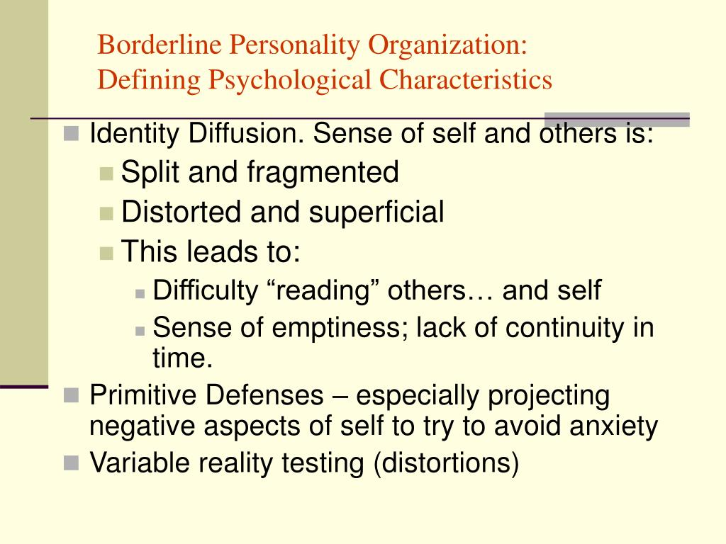 Borderline Personality Organization: