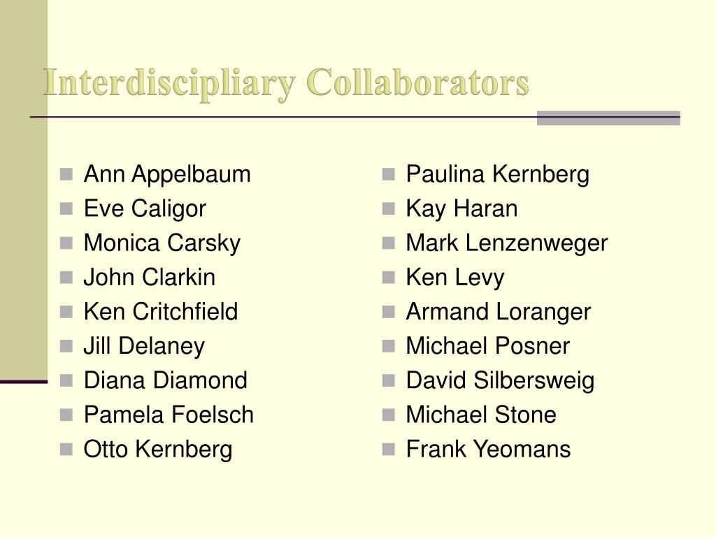 Interdiscipliary Collaborators