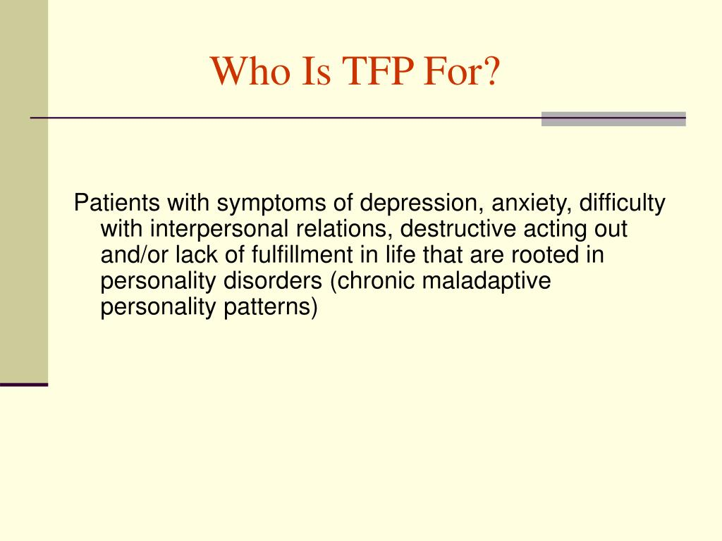 Who Is TFP For?