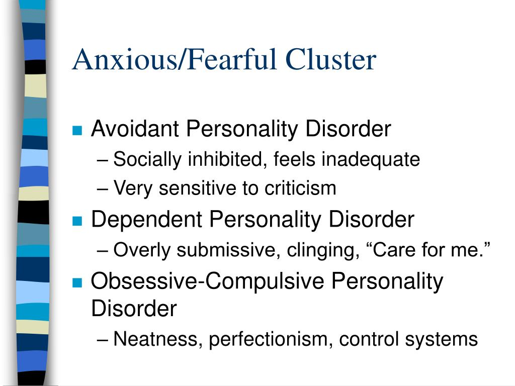 Anxious/Fearful Cluster