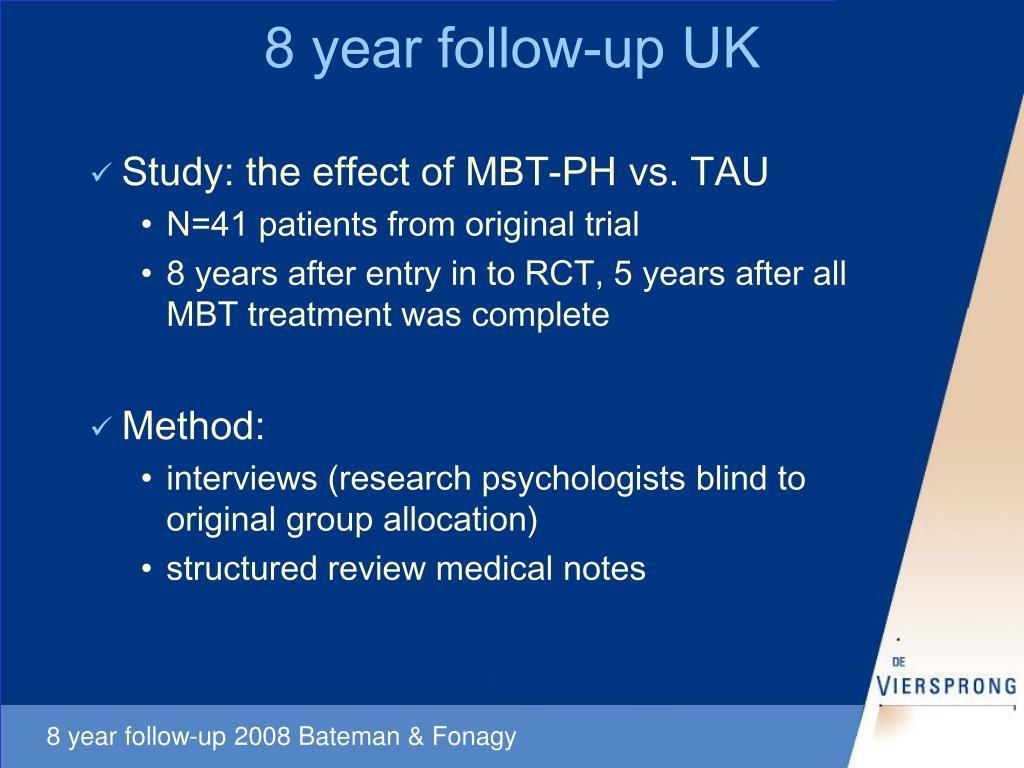 8 year follow-up UK