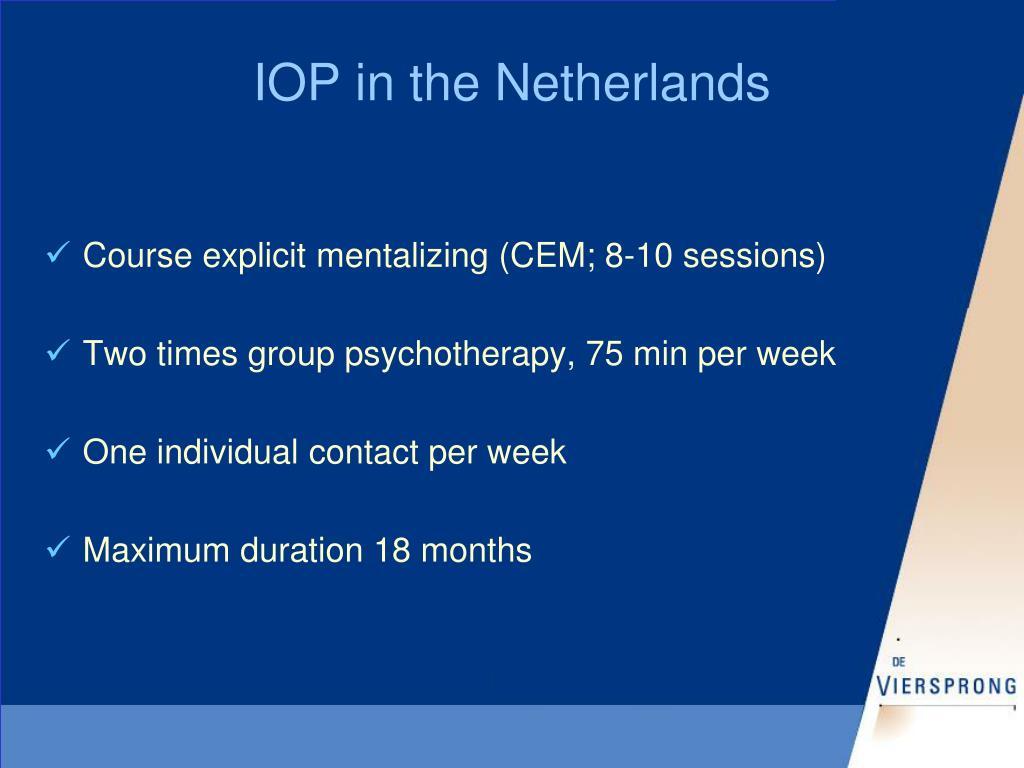 IOP in the Netherlands