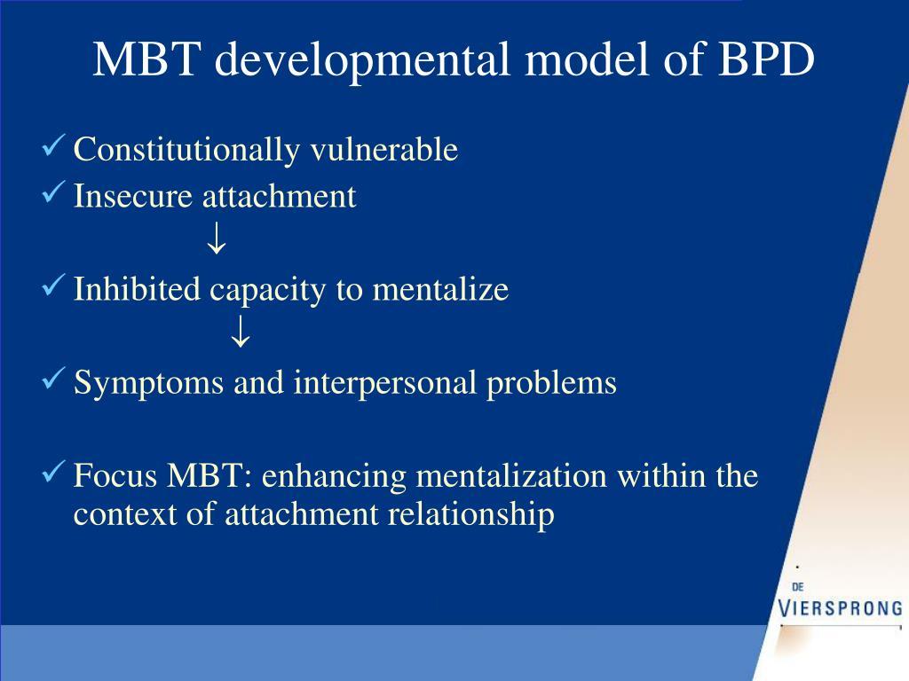 MBT developmental model of BPD
