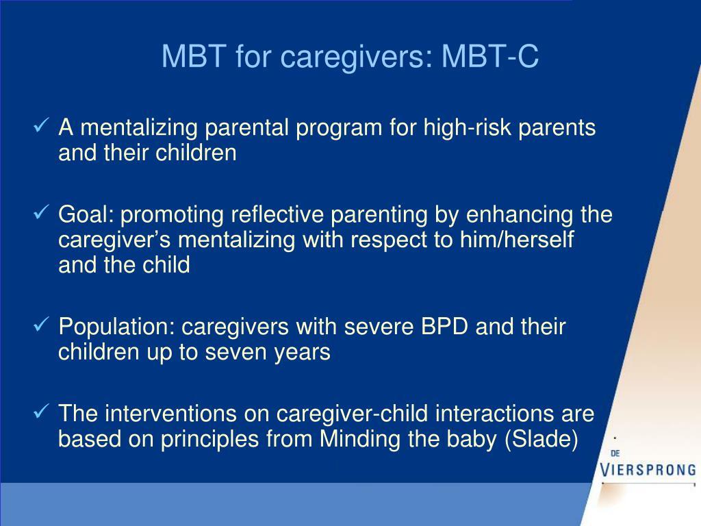 MBT for caregivers: MBT-C