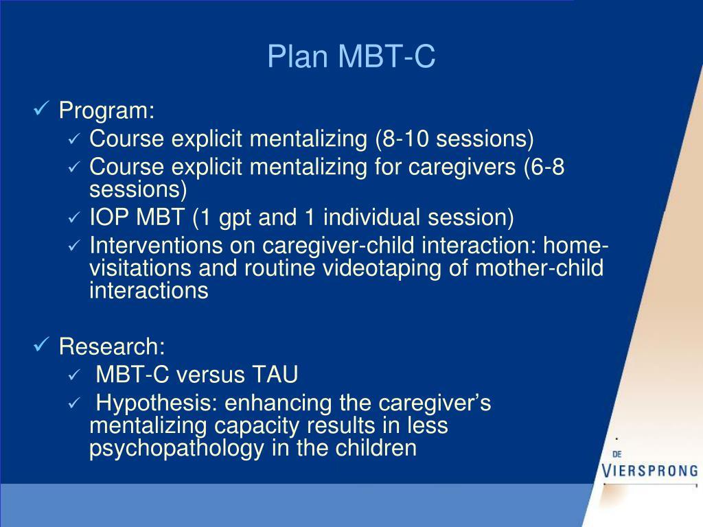 Plan MBT-C