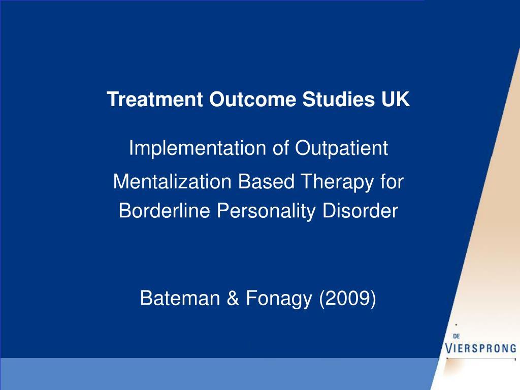 Treatment Outcome Studies UK