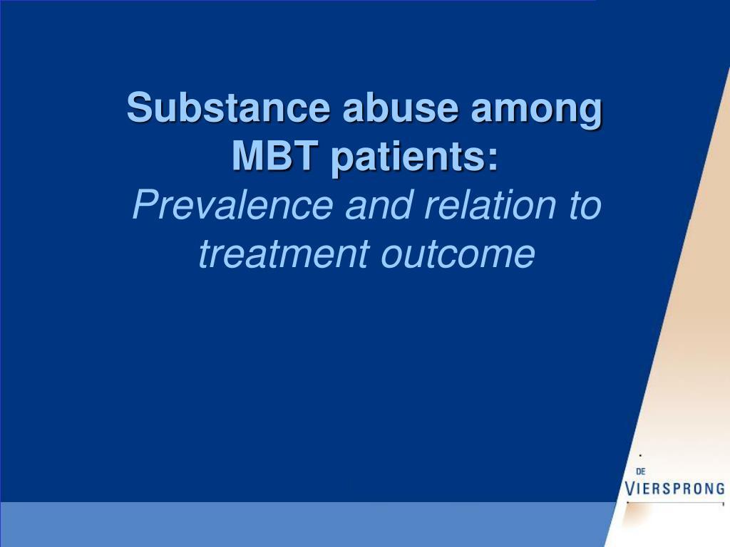 Substance abuse among