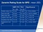 zanarini rating scale for bpd mean sd
