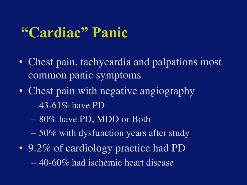 """Cardiac"" Panic"