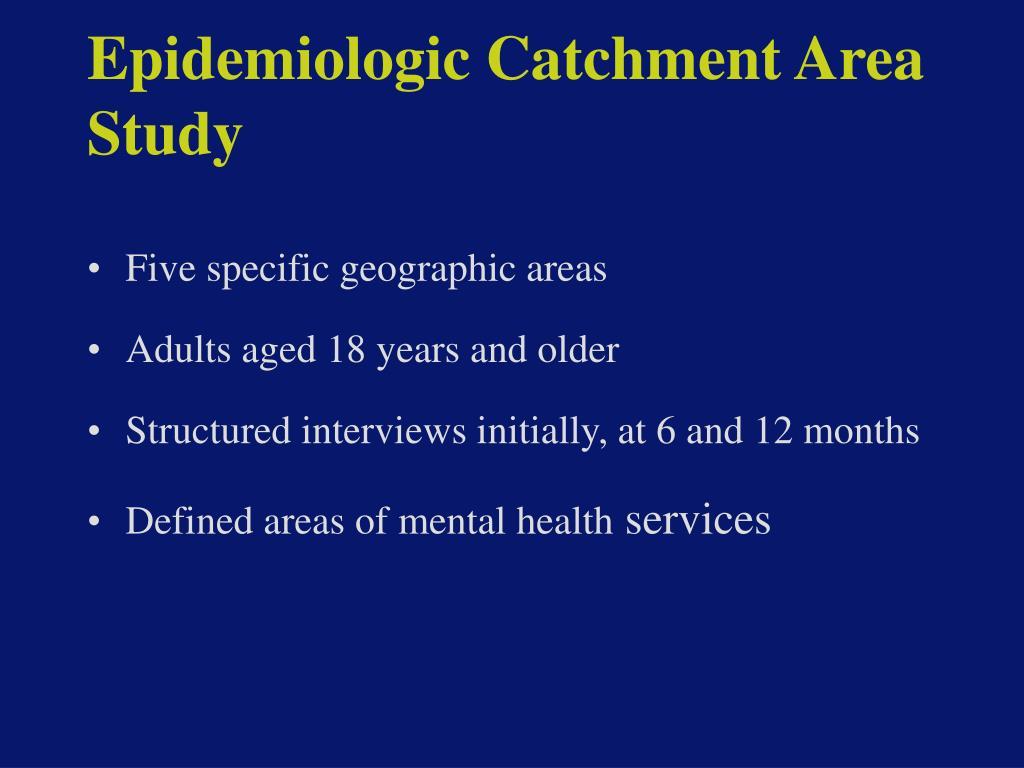 Epidemiologic Catchment Area Study