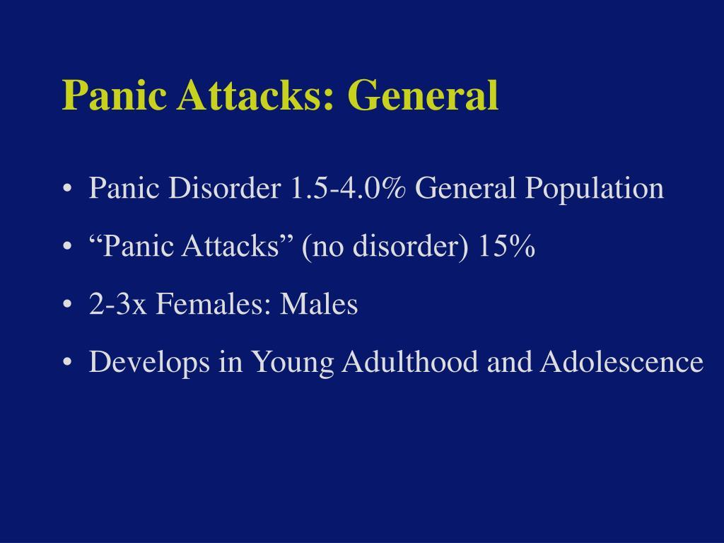 Panic Attacks: General