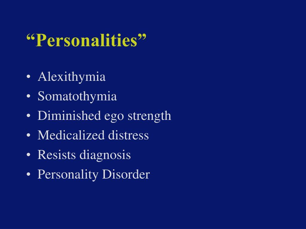 """Personalities"""