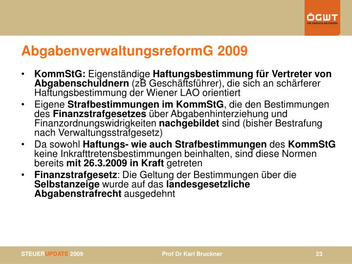 AbgabenverwaltungsreformG 2009