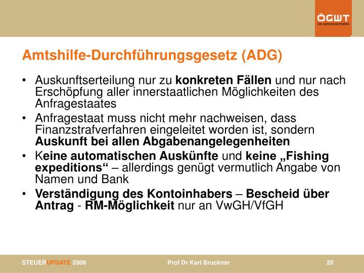 Amtshilfe-Durchführungsgesetz (ADG)