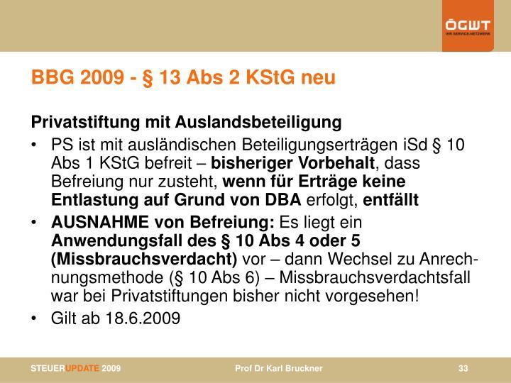 BBG 2009 - § 1