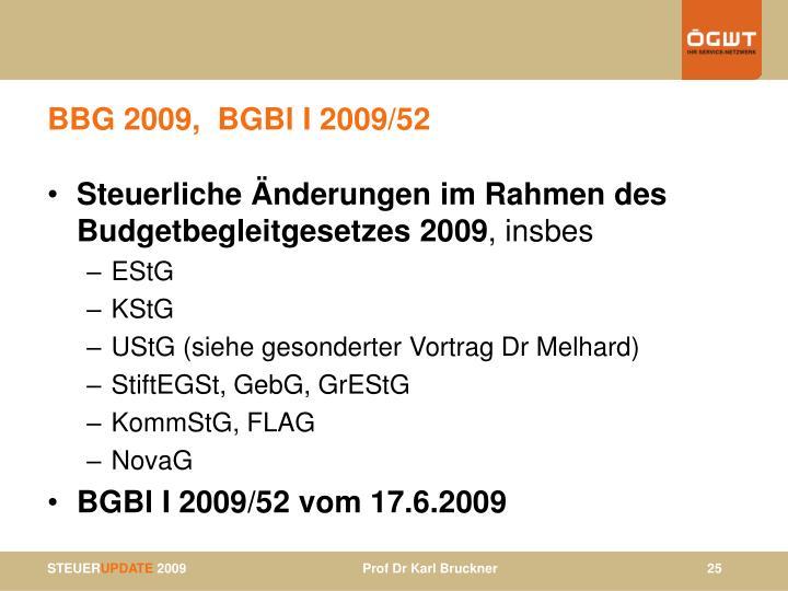 BBG 2009,  BGBl I 2009/52