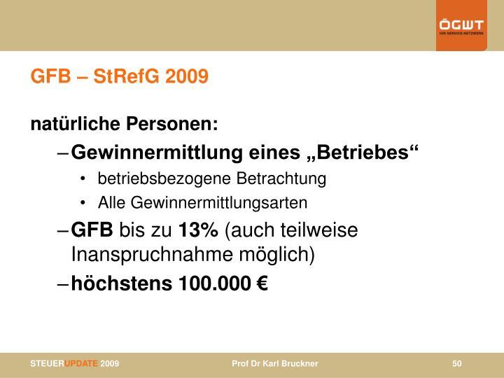 GFB – StRefG 2009