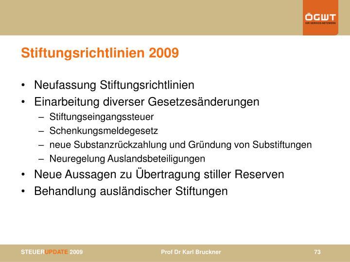 Stiftungsrichtlinien 2009